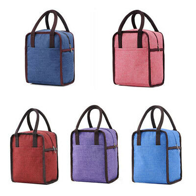 Unisex Adults Kids Lunch Bags Insulated Cool Bag Picnic Bag School Lunchbox HD