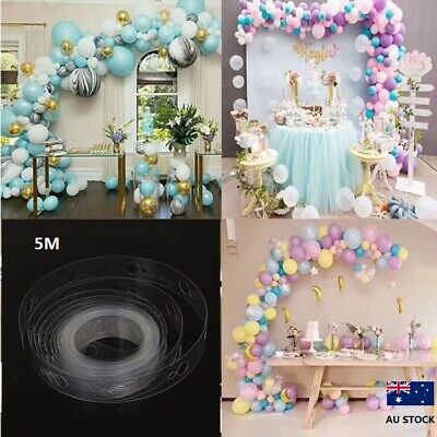 5M Balloon Chain Tape Balloon Decorate Strip Arch Garland  DIY Tape Party Decor