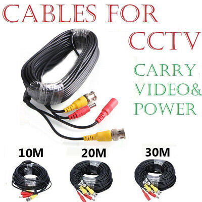 5M-30M BNC Lead Video Power HD Cable DC Security CCTV Camera DVR Recorder Wires
