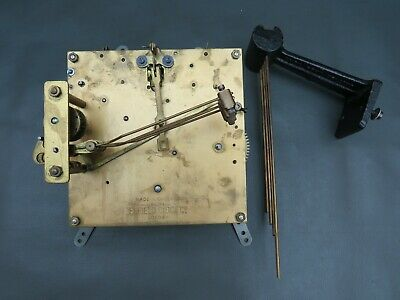 Vintage Enfield Clock Co mantel clock movement and chimes for repair or spares