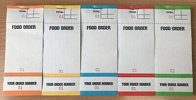 20 x Food Order Pads - Coloured Bar Restaurant Pads