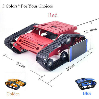 3 Colors Tracked Chassis CNC RC Tank  Aluminum Alloy for Arduino DIY Unfinished*