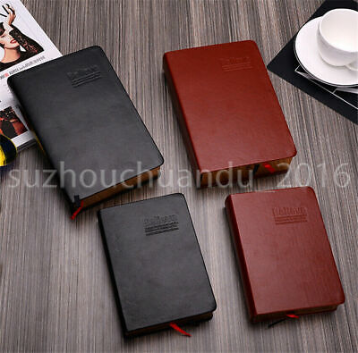 12*17CM Vintage Thick Blank Paper Notebook Notepad Leather Journal Diary Book