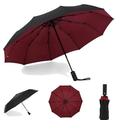 Automatic Folding Umbrella Windproof Sun Rain Windproof Lightweight Unisex