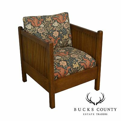 Stickley Mission Collection Oak Spindle Cube Chair