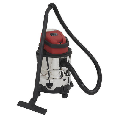 PC20SD20V Sealey Vacuum Cleaner Cordless Wet & Dry 20ltr 20V - Body Only