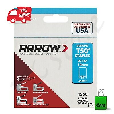 """Round Crown Arrow Staples T-18  3//8/"""" L For Wire /& Cable Tacker 1104."""