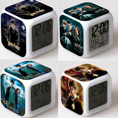 UK stock 2019 HOT NEW Harry Potter Hermione 7-Color Changing Alarm Clock in Box