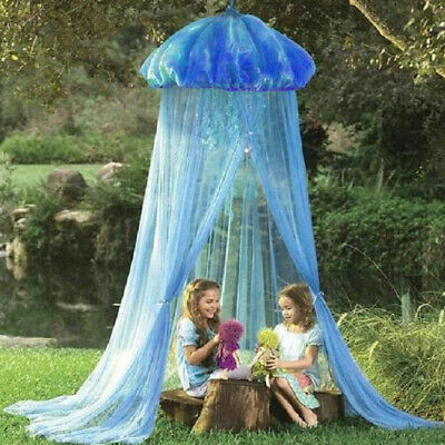 Lovely Jellyfish Shape Bed Canopy Crib Mosquito Net Curtain Tent Accs Blue