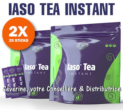 50 sticks de IASO TEA INSTANT (cure 10 semaines) 100% Naturel ! 👍