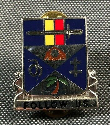 US ARMY 100TH S&S Battalion DUI SUS MIU CB DI Pin Badge Unit