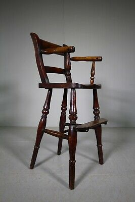 Lovely 19th Century English Antique Childs High Chair