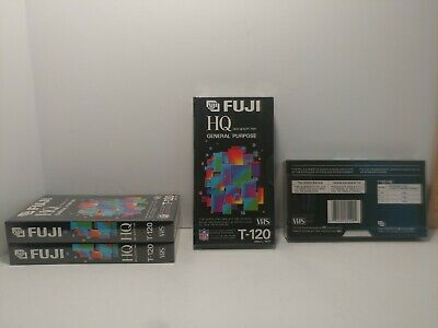 (4) FUJI T-120 Blank VHS Tapes HQ High Quality General Purpose New/Sealed
