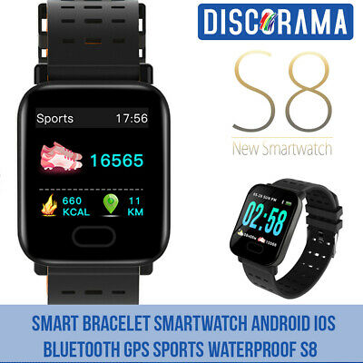 Smart Bracelet Smartwatch Android Ios Bluetooth Gps Sport Waterproof S8 Orologio