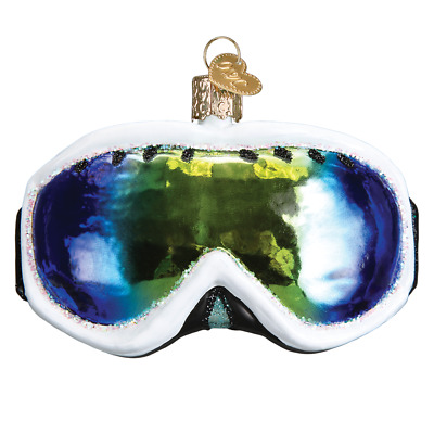 """Ski Goggles"" (44101)X Old World Christmas Glass Ornament w/ OWC Box"