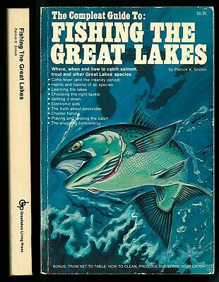 The Compleat Guide to FISHING THE GREAT LAKES, Patrick K. Snook, 1976 1st PB