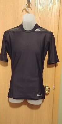MEN's Adidas Techfit COMPRESSION Black Fitness Climalite Sleeveless Shirt Large