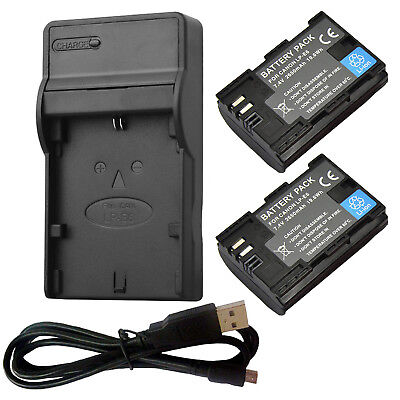 LP-E6N Battery usb Charger For Canon EOS 7D 70D 60D 6D 5D Mark II III IV LPE6