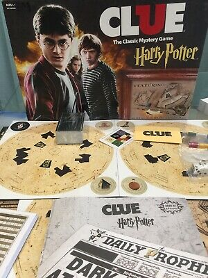 Harry Potter CLUE USAopoly Mystery Board Game *OPEN BOX NEW* Complete Game