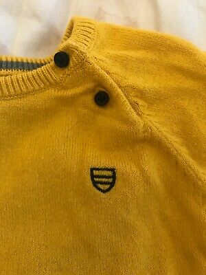 Mayoral 6 Months baby boys Mustard / yellow sweater #designer #toddler