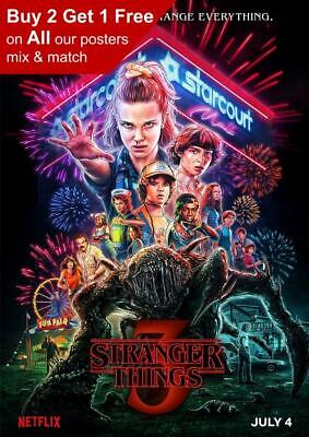 Stranger Things Season 3 Poster A5 A4 A3 A2 A1