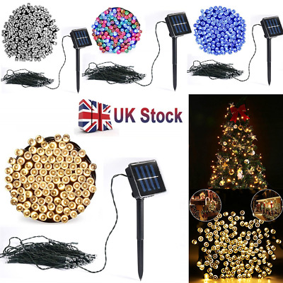 50 100 200 LED Outdoor String Lights Solar Power Fairy Lights for Party Wedding