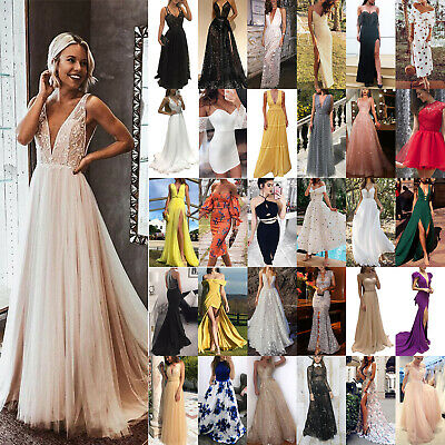 Women Formal Prom Ball Gown Evening Cocktail Party Wedding Bridesmaid Maxi Dress