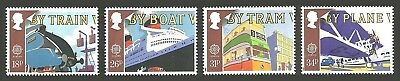 Gb 1988 Europa Transport And Mail Trains Trams Ships Aircraft Set Mnh