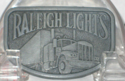 Vintage Belt Buckle Raleigh Lights Cigarettes Semi Truck tractor trailor