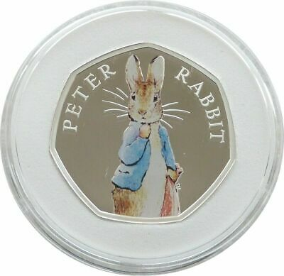 2019 Royal Mint Peter Rabbit 50p Fifty Pence Silver Proof Coin Box Coa