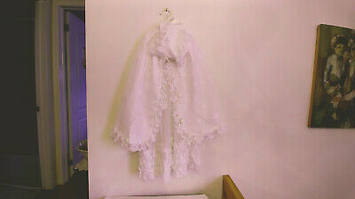 VINTAGE 3 PCE Baby Christening Gown Dress Set Clothes Antique Reborn Dolls