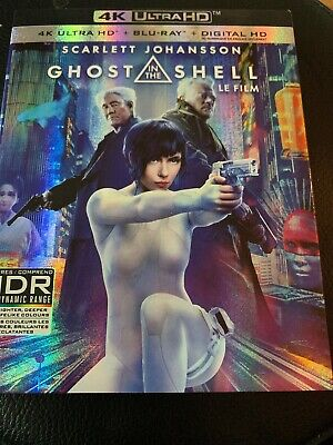 Ghost in the Shell 4K Ultra HD (UHD) & Bluray (no Digital) EXCELLENT CONDITION
