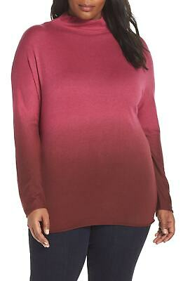 a4d6c68a832 NIC+ZOE NEW Pink Womens Size 2X Plus Traveler Funnel Neck Sweater $188- 820