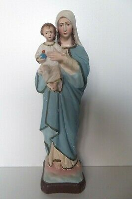 Jesus And Mary  Vintage Plaster Statue Religious Church Icon