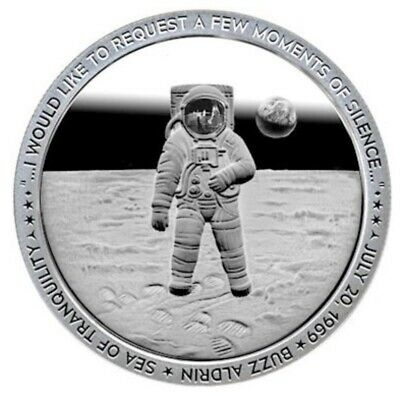 "Apollo 11 ""MOMENT OF SILENCE"" Coin 1oz .999 Fine Silver Proof Like ~~IN-HAND~~"