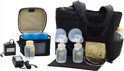 Medela Double Electric Breast Pump with On-The-Go Tote Bag Babies Feeding Kit