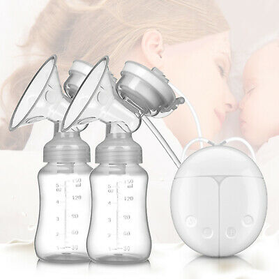 Electric Breast Pump Mute Automatic Dual Breastpump Baby Infant Feeding WithUSB