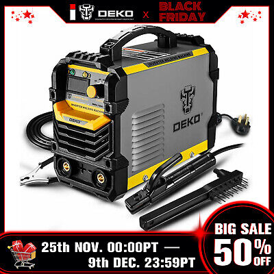 DEKO 110/220V MMA ARC Welder Machine IGBT Digital Display LCD Hot Start Welder