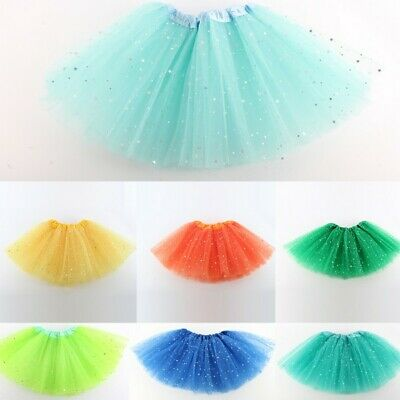 Baby Girls Sequin Tulle Tutu Skirt Ballet Kids Princess Dressup Dance Wear AU