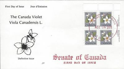 1979 #787 Canada Violet UR BK FDC with NR Covers cachet Senate of Canada
