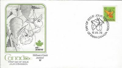 1978 Floral Definitive #712 Jewelweed  FDC with Fleetwood cachet