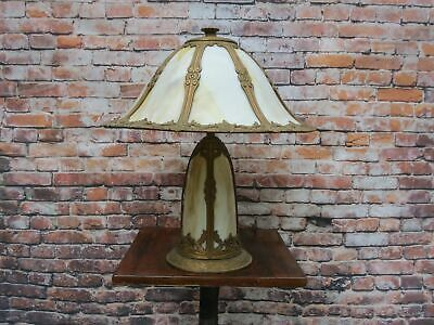 Antique Slag Glass Lamp Lighted Base Handel Miller B&H Era - Excellent Condition