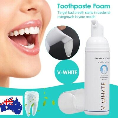 2X V-WHITE Whitening Toothpaste Foam Oral Hygiene Toothpaste Deep Teeth Cleaning