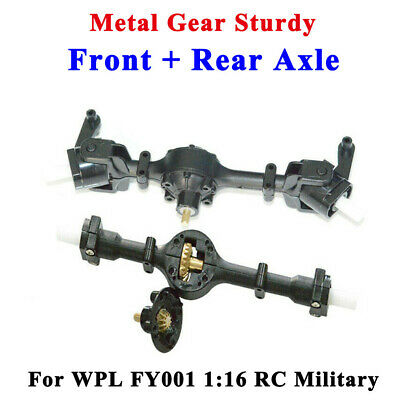 Metal Gear Sturdy Front / Rear Axle Assembly Part For WPL FY001 1:16 RC Military