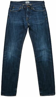 Edwin Regular Slim Classic boy Kid's Jeans Size 29x32 Blue Button Fly Dark Wash