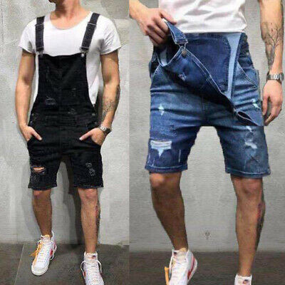 AU Mens Bib and Brace Overalls Work Trousers Dungarees Casual Jumpsuit Romper