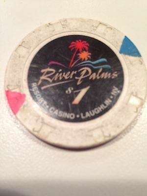 $1 River Palms Laughlin Nevada Obsolete House Chip