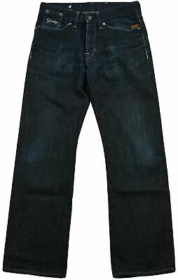 G-Star Raw Denim Straight Fit Classic Kid's Jeans Size 29/30 Dark Grey Button