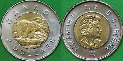 2012 Canada Old Generation Toonie Graded as Brilliant Uncirculated