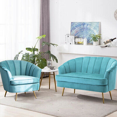 Astonishing Luxe Grey Velvet Accent Chair 2 Seater Sofa Couch Set For Andrewgaddart Wooden Chair Designs For Living Room Andrewgaddartcom